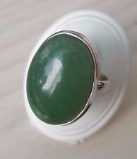 GREEN AVENTURINE RING 925 STERLING SILVER SIZE M