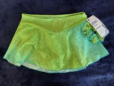 New listing NWT Icings Originals Child Medium Green Ombre Sparkle Skating Skirt