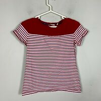 Barbour Women's Size 12 Short Sleeve Shirt Top Red White Striped