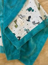 MINKY & DOUBLE GAUZE CUDDLE BABY QUILT - BY ROSE CRYSTAL QUILTS - NEW