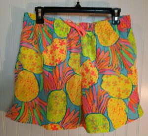 Chubbies Swim Trunks Boxers Shorts Neon Print Tropical Sz L Men's