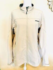 Patagonia Adze Jacket Full Zip Men's XXL Polartec Windbloc Soft Shell Tan Khaki