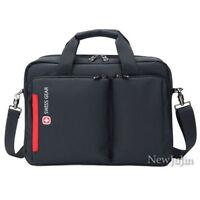 "Swiss Gear Messenger Bag Briefcase 14"" Laptop Shoulder Business Travel Handbag"