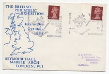 1968 Philatelic Cover BRITISH EXHIBITION Special Cancel Thematic LONDON Gutter