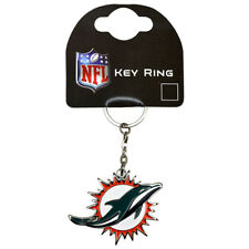 NFL Official Miami Dolphins Metal Crest Keyring