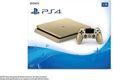 NEW Sony PlayStation 4 Slim 1TB Gold Console Bundle Limited Edition