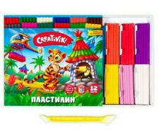 Creativiki Modelling Clay Set of 12 Colors Russian Plastilin Plasticine 180 gr