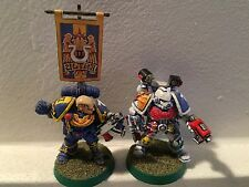 Space Marine Captain & Apothecary METAL OOP well painted Games Workshop Models
