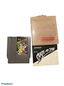 SKATE OR DIE NES NINTENDO VIDEO GAME CART WITH MANUAL
