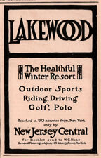 1907 A AD LAKEWOOD WINTER RESORT NEW JERSEY CENTRAL