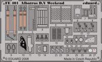 Eduard 1/48 Albatros D.V Weekend Pre-Pintados en color #fe401