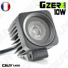 FEUX PHARE DE TRAVAIL 10W LED LENTICULAIRE-WORKING LIGHT CAMION BATAU 4X4 12/24V