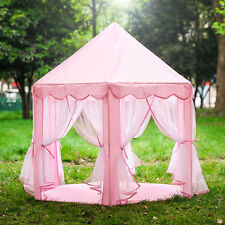 Portable Pink Princess Folding Play Kid Tent Girl House Fun Play Tent In/Outdoor