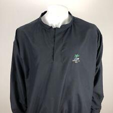 Zero Restriction Mens Lightweight Thin Golf Snap Wind Rain Pullover Black Large