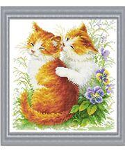 Cross stitch Kit  Loveable Kittens Cats flowerpower37-uk