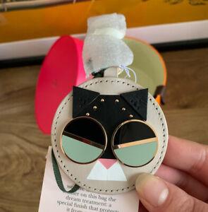 Kate Spade Spademals Leather Smitten Kitten Dangle /Key Ring RRP £70, Gift Box