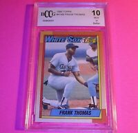 1990 Topps Frank Thomas Rookie #414 ,Graded BCCG (Beckett BGS) 10 Mint or Better