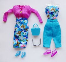 Barbie Fashion Avenue Butterfly Mix-N-Match 5 Ways Outfits & Accessories Rare