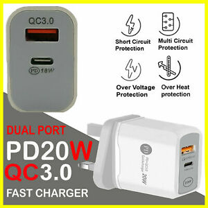 UK IPhone CE charger/Cable PD Plug 20W For Apple iPhone 13 12 PRO MAX 11 XR XS