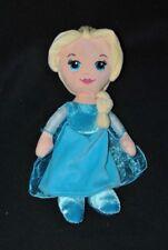 Peluche doudou poupée Elsa DISNEY La reine des neiges blond robe bleue 30cm NEUF