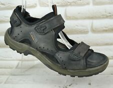 ECCO Receptor Mens Black Leather Sandals Summer Sport Shoes Size 11 UK 45 EU