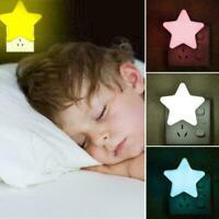 Sternform LED Nachtlicht Sensor Fernbedienung Schlafzimmer T8I0 Licht Steck C0Q1