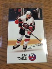 1988 ESSO NHL ALL-STAR COLLECTION JOHN TONELLI STAMP STICKER FRENCH ENGLISH