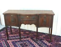 Mahogany Wood Antique Edwardian  Sideboard Cabinet / Buffet Bar