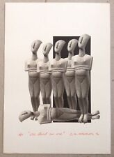 "Dimitris C. Milionis ""CYCLADIC MEN"" Signed Edition Giclee Print Greek 2016"