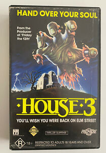 HOUSE 3 (THE HORROR SHOW) [VHS] Premiere Roadshow Ex-Rental Horror Video Tape!