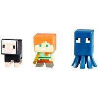 Minecraft netherrack serie 3 Mini-figura 3-Pk Diamante Steve /& endermite espanto