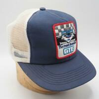 Vintage GTE Racing Patch Mesh Snapback Trucker Farmer Hat Cap NWOT