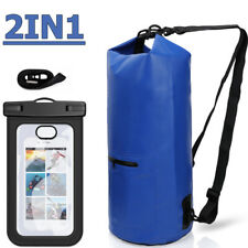 20L Waterproof Dry Bag Canoe Floating Boating Kayaking Camping + Case for phone