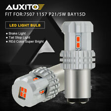 AUXITO 2x RED 7507 1157 P21/5W BAY15D Bright Tail Stop Brake Light LED Bulbs