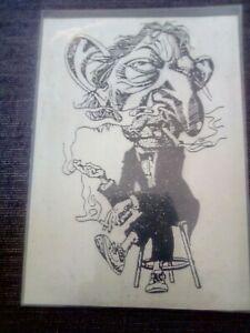 serge gainsbourg dessin caricature sur 10/15 cm format carte postale