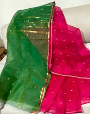Cotton Silk Saree with Zari Border with attached blouse piece. Light Weight.