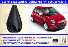 Cuffia Cambio Fiat 500 2008 leva marce cuffie nuova cinquecento ecopelle per in