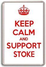 KEEP CALM AND SUPPORT STOKE, STOKE CITY FOOTBALL TEAM Fridge Magnet