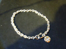 """NEW 9"""" SOLID .999 PURE SILVER MENS TIGHT LINK BRACELET ANARCHY PM JEWELRY #25J"""