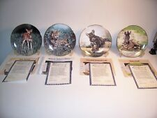 4 WS GEORGE COLLECTOR PLATES - BABY ANIMALS- FRACE-1991
