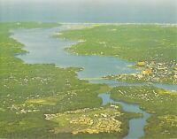 NJ Fair Haven  - AERIAL VIEW - 5x7 Dexter Press postcard
