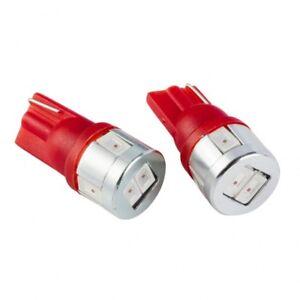 JDM ASTAR 2x Red T10 Wedge LED Marker Signal Brake Light Bulbs 194 168 2825 W5W