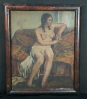 Antique oil painting Japan Desnuda 1927 Matsumura art composition