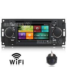 Radio DVD Navigation  For Dodge Ram Durango Caliber Charger Dakota Free Camera