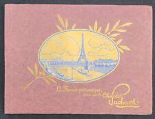 2 Albums vierges chromo CHOCOLAT SUCHARD LA FRANCE PITTORESQUE Tour Eiffel tower