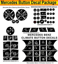 2007-2014 Mercedes Benz Button Repair Package Steering AC Window Decals Stickers