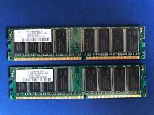 2 Nanya 512MB 400MHz-CL3 DDR 1 PC3200 NT512D64S8HB1G-5T Desktop Ram Memory