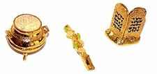 """Gold Plated 2"""" Ark of the Covenant Contents Israel Hebrew Jewish Jerusalem"""