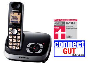 Panasonic KX-TG6521GB schwarz DECT Telefon mit Anrufbeantworter