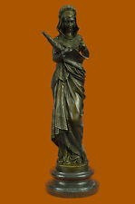BRONZE FIGURINE OF THE ROMAN GODDESS FORTUNA HOLDING THE 'HORN OF PLENTY' WEALTH